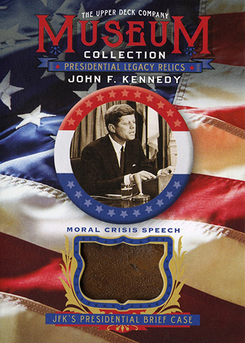 2019 Upper Deck Goodwin Champions Museum Collection JFK Presidential Briefcase