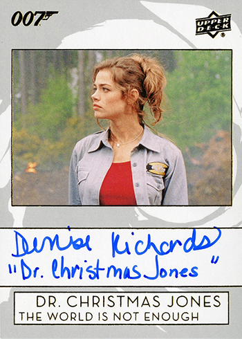 2019 Upper Deck James Bond Collection Autographs Inscriptions Denise Richards