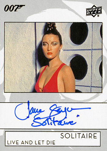 2019 Upper Deck James Bond Collection Autographs Jane Seymour