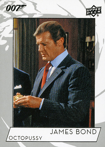 2019 Upper Deck James Bond Collection Base Roger Moore Octopussy