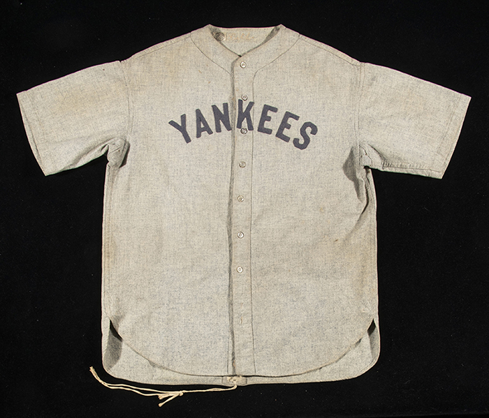 Babe Ruth Game-Used Jersey 1928-1930 Hunt Auctions June 2019