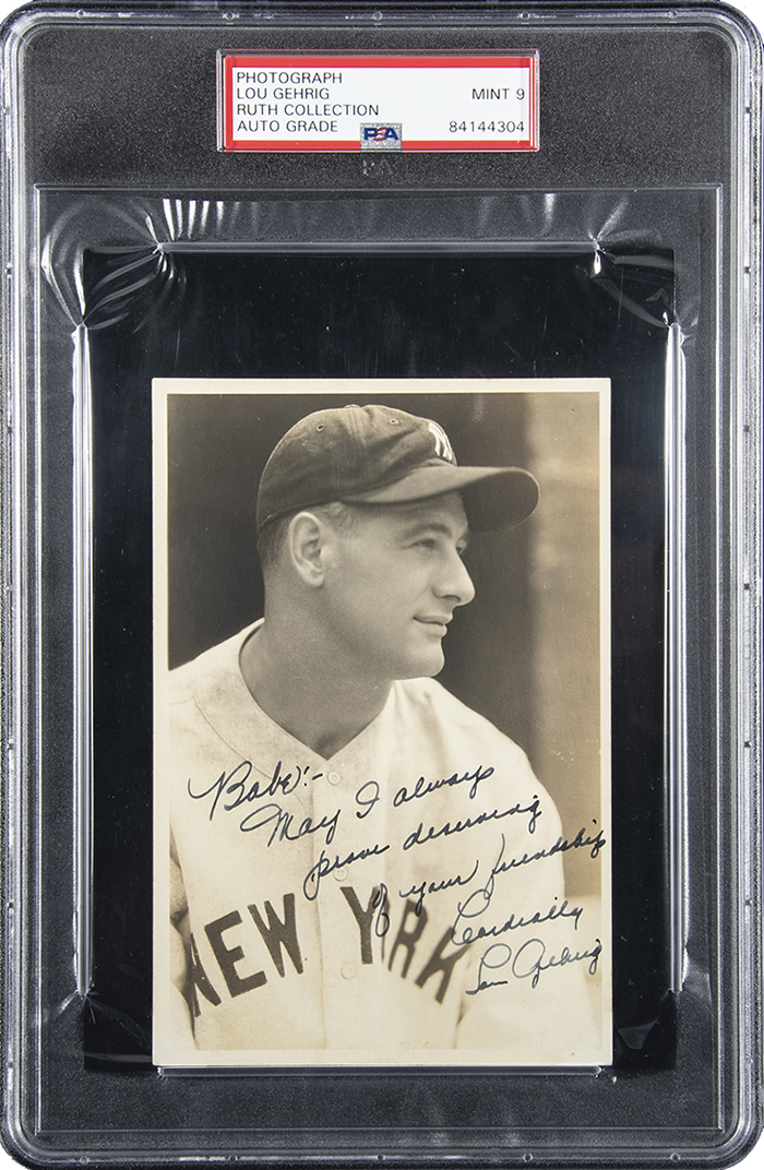 Babe Ruth Lou Gehrig Inscribed Photo Hunt Auctions June 2019