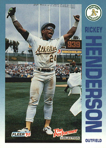 1992 Fleer 7-Eleven Citgo 17 Rickey Henderson