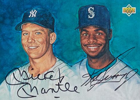 1994 Upper Deck Mickey Mantle Ken Griffey Jr Dual Autograph BGS 9-5