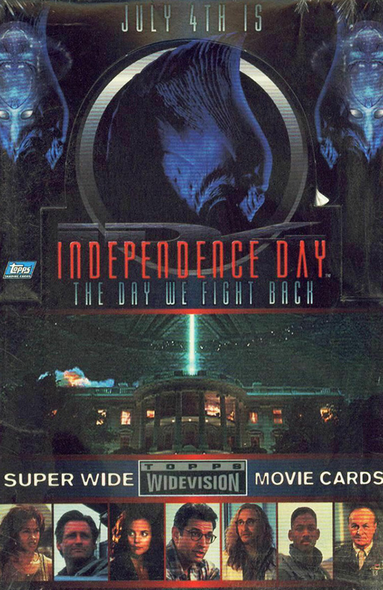 1996 Topps Independence Day Widevision Box