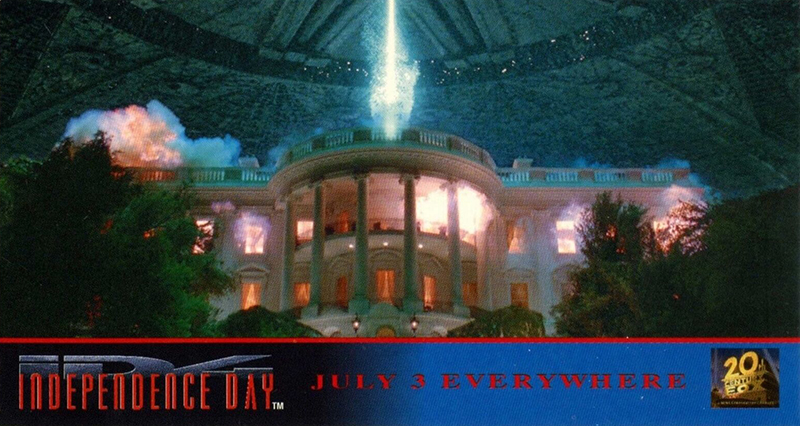 1996 Topps Independence Day Widevision Promo Card P1