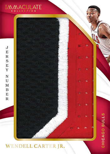 2018-19 Panini Immaculate Collection Basketball Jersesy Number
