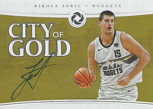 2018-19 Panini Opulence Basketball City of Gold Autographs Nikola Jokic