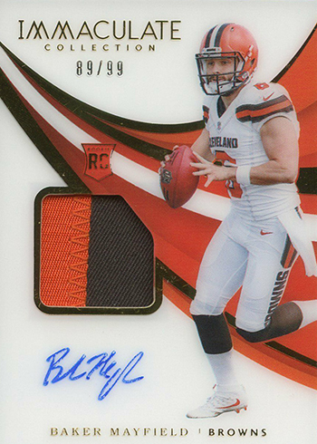 2018 Immaculate Collection Baker Mayfield Rookie Card