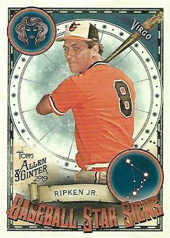 2019 Topps Allen and Ginter Baseball Baseball Star Signs Cal Ripken Jr