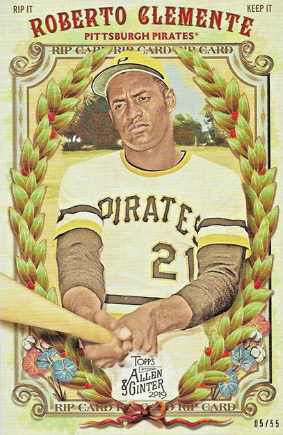 2019 Topps Allen and Ginter Baseball Box Loader Rip Card Roberto Clemente