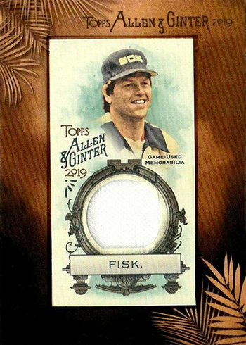 2019 Topps Allen and Ginter Baseball Framed Mini Relics Carlton Fisk