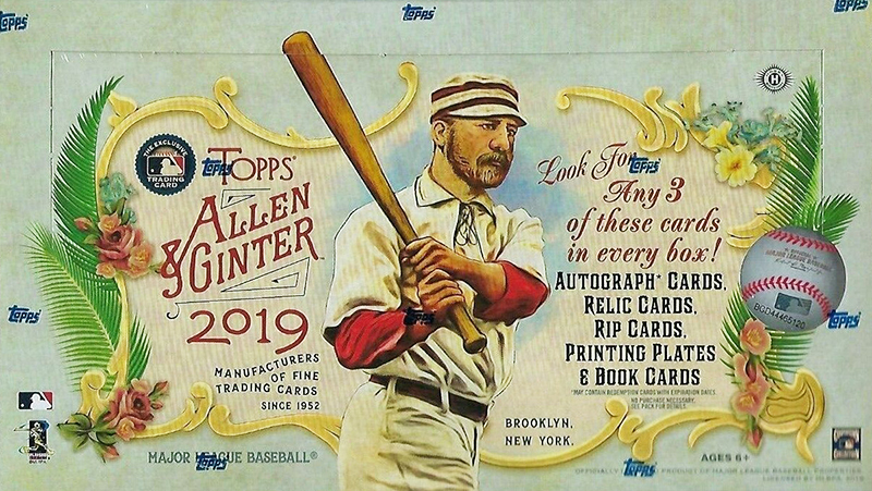 2019 Topps Allen and Ginter Baseball Hobby Box