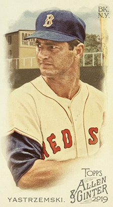 2019 Topps Allen and Ginter Baseball Rip Exclusive Minis 359 Carl Yastrzemski