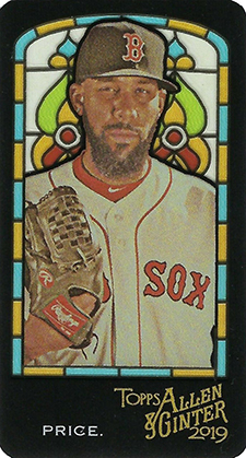 2019 Topps Allen and Ginter Baseball Stained Glass David Price