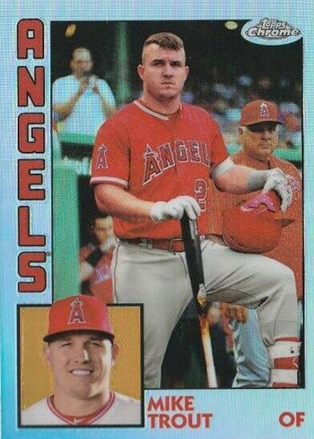 2019 Topps Chrome Baseball 1984 Topps Baseball Mike Trout