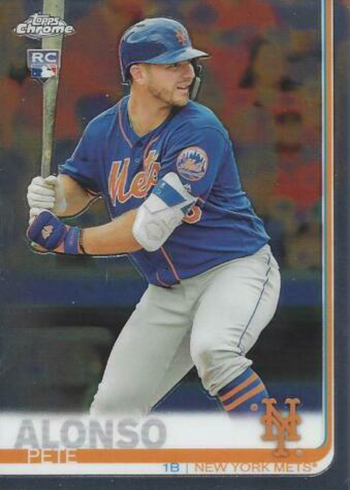 2019 Topps Chrome Baseball Pete Alonso RC