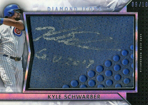 2019 Topps Diamond Icons Baseball Preminent Pieces Kyle Schwarber