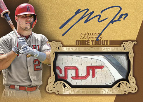 2019 Topps Dynasty Baseball Autograph Batting Glove Gold