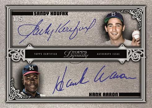 2019 Topps Dynasty Baseball Dual Autograph