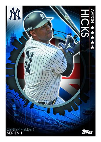 2019 Topps UK On-Demand London Series Baseball Aaron Hicks
