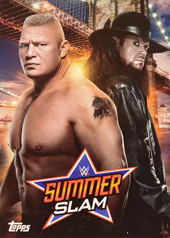 Eddie Guerrero Official Wrestling Trading Card From Topps 2019 Topps WWE SummerSlam Mr SummerSlam Wrestling #MSS-12 8//25//02 Edge def