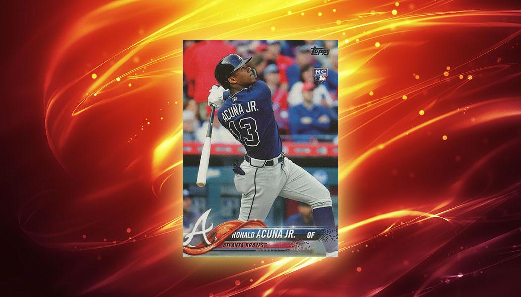 2018 Topps Baseball #698 Ronald Acuna Rookie Card Short Print