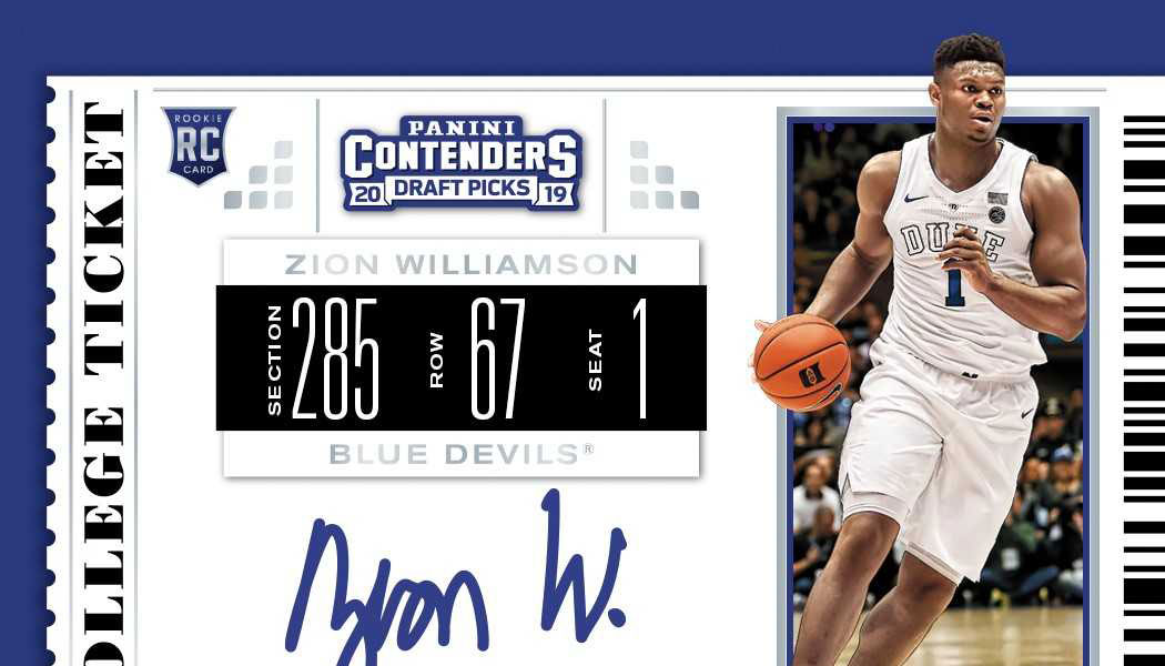Zion Williamson Signs Exclusive Trading Card Autograph