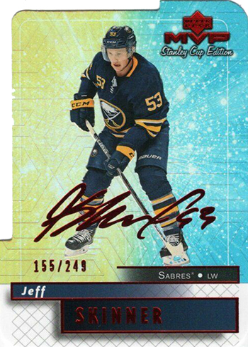 2019-20 Upper Deck MVP Hockey Stanley Cup 20th Anniversary Colors and Contours Jeff Skinner