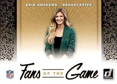 2019 Donruss Football Fans of the Game Erin Andrews
