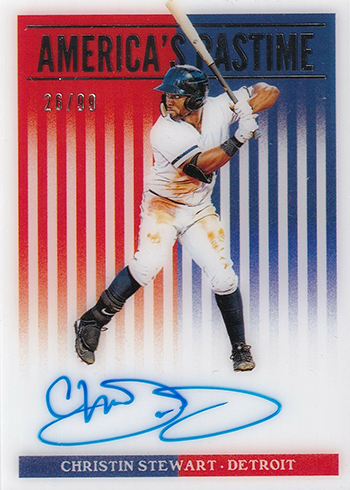 2019 Panini Chronicles Baseball Americas Pastime Christin Stewart Autograph 99