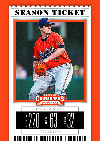 2019 Panini Contenders Draft Picks Baseball Season Ticket