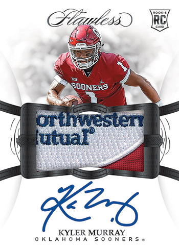 2019 Panini Flawless Collegiate Football Rookie Autograph Patch Murray