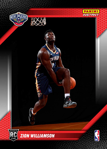 2019 Panini Instant RPS First Look Zion Williamson