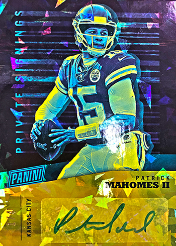 2019 Panini National Convention Private Signings Patrick Mahomes