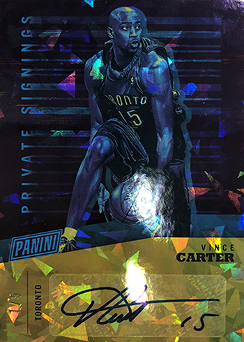 2019 Panini National Convention Private Signings Vince Carter