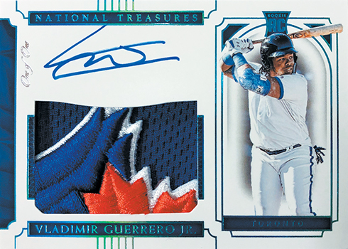 2019 Panini National Treasures Baseball Rookie Patch Autograph Vladimir Guerrero Jr