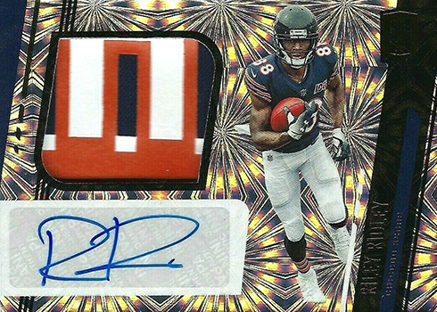 2019 Panini Unparalleled Football Rookie Jersey Autograph Fireworks Riley Ridley