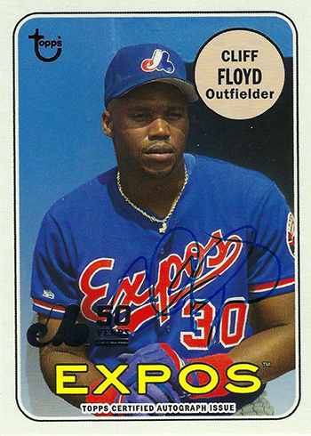 2019 Topps Archives Baseball Montreal Expos 50th Anniversary Autographs Cliff Floyd
