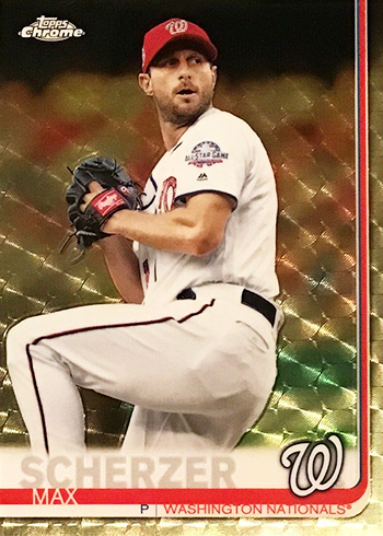 2019 Topps Chrome Baseball Superfractors Max Scherzer