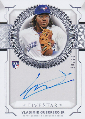 2019 Topps Five Star Baseball Five Star Autographs Vladimir Guerrero Jr