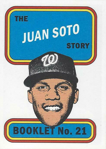 2019 Topps Heritage High Number Booklets Juan Soto