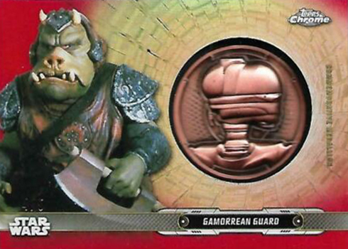 2019 Topps Star Wars Chrome Legacy Medallions Red Gammorean Guard