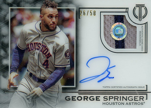 2019 Topps Tribute Baseball Autograph Patches George Springer