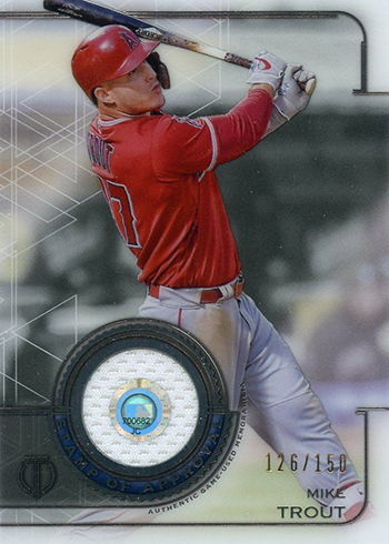 2019 Topps Tribute Baseball Stamp of Approval Mike Trout
