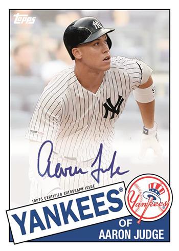 2020 Topps Series 1 Baseball 1985 Topps Baseball Autographs