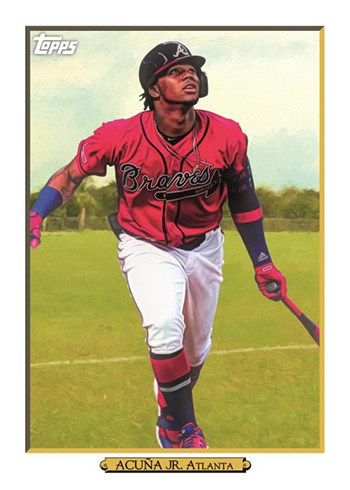 2020 Topps Series 1 Baseball Turkey Red Ronald Acuna Jr