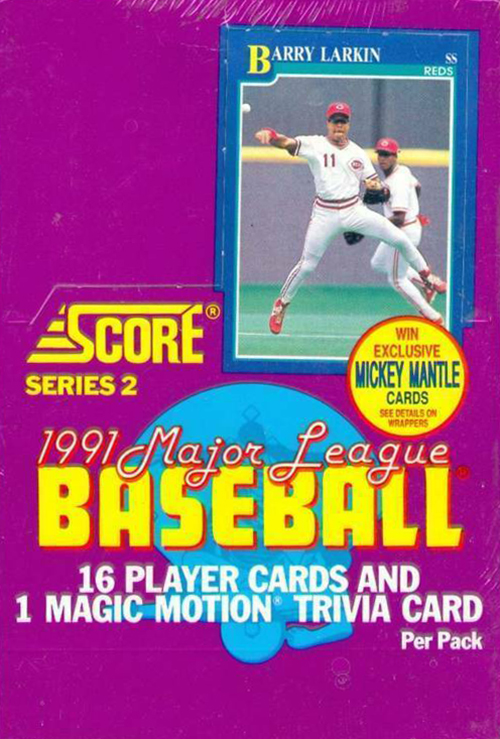 1991 Score Series 2 Baseball Box