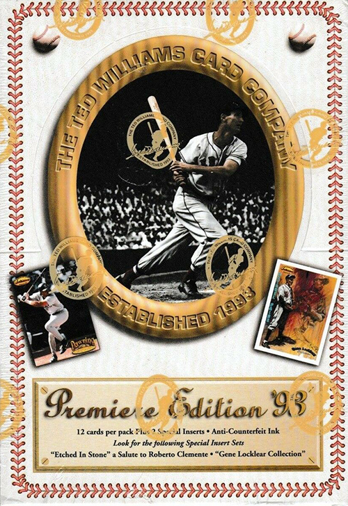 1993 Ted Williams Company Baseball Cards Box