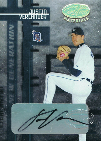 2005 Leaf Certified Materials Justin Verlander Rookie Card Autograph
